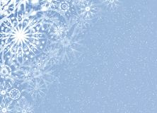Christmas fine snow card. Abstraction  grey snow  background for card Royalty Free Stock Image