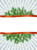 Christmas with fir branch pattern frame. Vector christmas with fir branch pattern frame Stock Images
