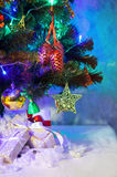 Christmas fir with decoration and presents Royalty Free Stock Photos
