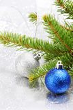 Christmas fir and decoration Royalty Free Stock Photos