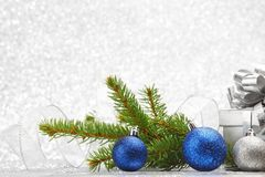 Christmas fir and decoration Royalty Free Stock Photo