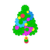 Christmas fir greeting card isolated Royalty Free Stock Photography
