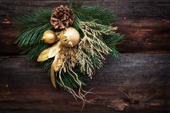 Christmas fir toy decoration, branch, fir cone. Xmas Stock Photography