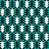 Christmas fir tree abstract seamless pattern Royalty Free Stock Photos