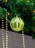 Christmas fir tree ball decoration stock photo