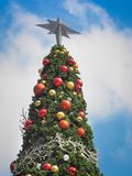 Christmas fir tree with ball decorations Royalty Free Stock Photography