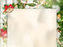 Christmas Fir Tree Border. EPS 10. Christmas Fir Tree Border over Vintage background. EPS 10 vector file included Royalty Free Stock Images