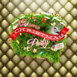 Christmas fir tree - Bubble for speech. EPS 10 Royalty Free Stock Images