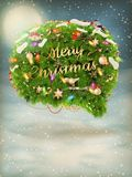Christmas fir tree Bubble for speech. EPS 10. Vector file included Royalty Free Stock Images
