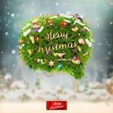 Christmas fir tree Bubble for speech. EPS 10 Stock Photos
