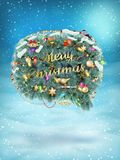 Christmas fir tree Bubble for speech. EPS 10. Vector file included Stock Photo