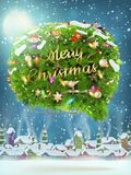 Christmas fir tree Bubble for speech. EPS 10 Royalty Free Stock Photos