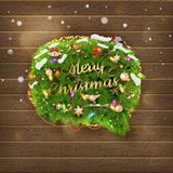 Christmas fir tree Bubble for speech. EPS 10 Stock Image