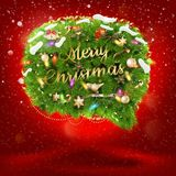 Christmas fir tree Bubble for speech. EPS 10 Royalty Free Stock Images