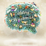 Christmas fir tree Bubble for speech. EPS 10. Vector file included Royalty Free Stock Photos