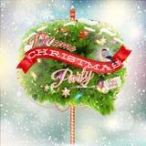 Christmas fir tree - Bubble for speech. EPS 10 Stock Photos