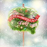 Christmas fir tree - Bubble for speech. EPS 10 Stock Photography