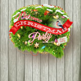 Christmas fir tree - Bubble for speech. EPS 10 Stock Image