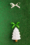 Christmas Fir tree cookie background Royalty Free Stock Image
