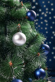 Christmas fir-tree decorated with spheres Royalty Free Stock Images