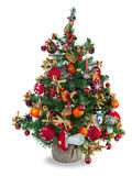 Christmas fir tree decorated with toys Stock Photos