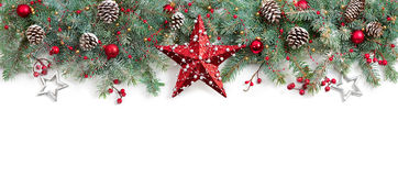 Christmas Fir Tree Decorated Royalty Free Stock Images