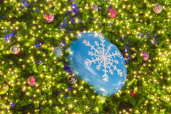 Christmas fir tree with decoration royalty free stock images