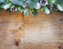 Christmas fir tree  decoration with  fir cones and balls Stock Photography