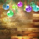 Christmas fir tree with decoration. EPS 10 Stock Photos