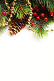 Christmas fir tree with decoration Royalty Free Stock Image