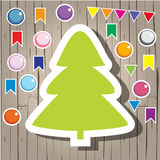 Christmas fir-tree and decoration Royalty Free Stock Photos