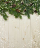 Christmas fir tree with decoration Royalty Free Stock Photos