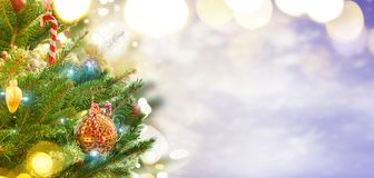 Christmas fir tree with decorations Royalty Free Stock Image