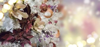 Christmas fir tree with decorations Royalty Free Stock Photography