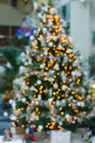 Christmas fir tree with decorations Stock Photo
