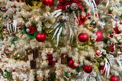 Christmas fir tree with decorations royalty free stock images