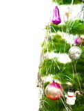 Christmas fir tree with different balls Stock Photo