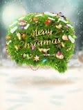 Christmas fir tree. EPS 10 Stock Images