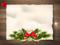 Christmas fir tree. EPS 10. Christmas fir tree with paper and christmas decorations. EPS 10 vector file included Royalty Free Stock Image