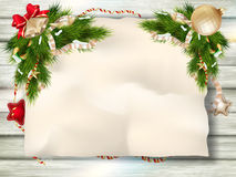 Christmas fir tree. EPS 10 Stock Photo
