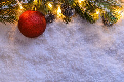 Christmas fir tree with lights Royalty Free Stock Images