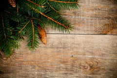 Christmas fir tree with pinecones Stock Photo