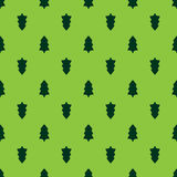 Christmas fir tree seamless pattern Stock Images