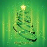 Christmas fir tree silhouette Stock Photo