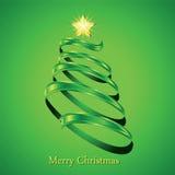 Christmas fir tree silhouette Stock Image