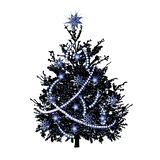 Christmas fir-tree with silvery sparks stock images