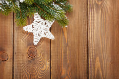 Christmas fir tree and star shape decor Stock Photography