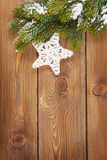Christmas fir tree and star shape decor Royalty Free Stock Images