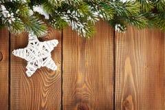 Christmas fir tree and star shape decor Stock Image