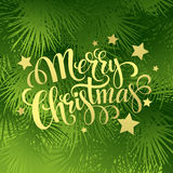 Christmas fir tree texture with greetings Royalty Free Stock Photo